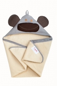 TOWEL Bathrobe Triangle With hood MONKEY