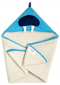 TOWEL Bathrobe Triangle hooded HIPPO