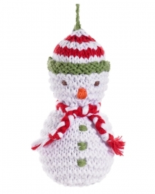 Christmas decoration for christmas Tree - Snowman - 9 cm