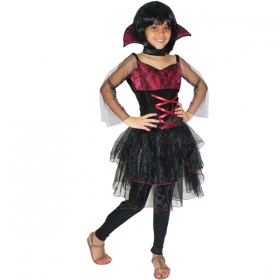 DRESS COSTUME CARNIVAL Mask / HALLOWEEN girl - VAMPIRIA-Vampire p