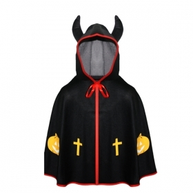 CLOAK Cape HALLOWEEN child girl - little Devil black