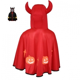 CLOAK Cape HALLOWEEN child girl - little Devil-red