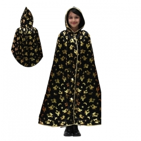 CLOAK with HOOD HALLOWEEN baby girl - WITCH in GOLD