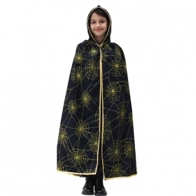 CLOAK with HOOD HALLOWEEN baby girl the spider - Web GOLD