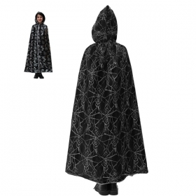 CLOAK with HOOD HALLOWEEN baby girl the spider - WEB SILVER