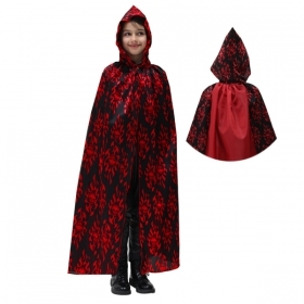 CLOAK with HOOD HALLOWEEN child girl - Red DEVIL
