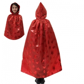 CLOAK with HOOD HALLOWEEN baby girl - GHOST red