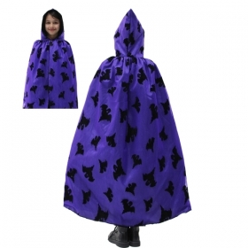 CLOAK with HOOD HALLOWEEN baby girl - GHOST purple