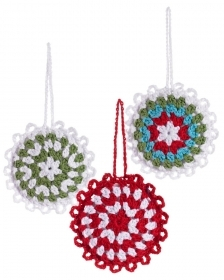 Christmas decoration for christmas Tree - snow Flakes - 15 cm