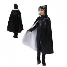 CLOAK with HOOD HALLOWEEN baby girl - Black and White