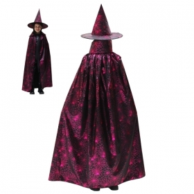 COAT with Hat, HALLOWEEN baby girl - WITCH Fuxia
