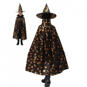 COAT with Hat, HALLOWEEN baby girl - WITCH HALLOWEEN