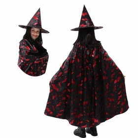 COAT with Hat, HALLOWEEN baby girl - WITCH-red