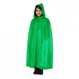 CLOAK with HOOD HALLOWEEN baby girl GREEN