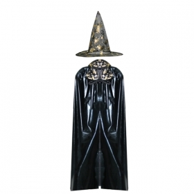 COAT with Hat HALLOWEEN - Adult - black/gold