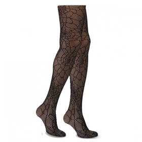 Tights Embroidered black HALLOWEEN adult spider - WEB