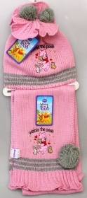 HAT with pompom and SCARF DISNEY WINNIE THE POOH Pink