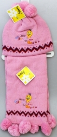 The HAT and SCARF DISNEY LOONEY TUNES TITTY Pink