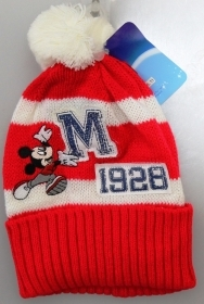 DISNEY HAT With POM poms MICKEY mouse Mickey Red