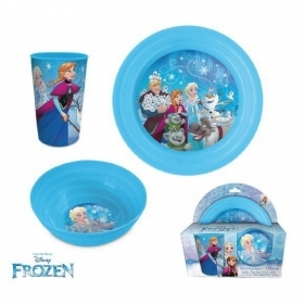 SET PAPPA - Plate Bowl Cup DISNEY FROZEN Elsa Anna Olaf