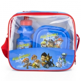 Set Lunch at PAW PATROL THERMAL BAG with water BOTTLE and BOWL