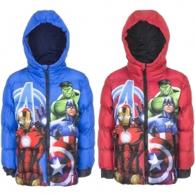 VEST Wind Jacket WITH ZIP and HOOD MARVEL AVENGERS 3 to 10 YEARS