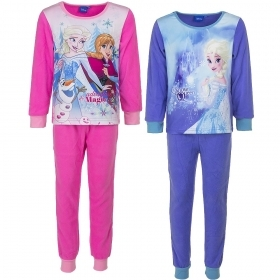 PAJAMAS Fleece 2 Pcs DISNEY FROZEN ELSA and ANNA - 4 5 6 8 years Autumn/Winter