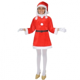 DRESS CHRISTMAS COSTUME - Child MOTHER CHRISTMAS in Chenille