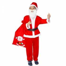 DRESS COSTUME CHRISTMAS Baby SANTA CLAUS Chenille
