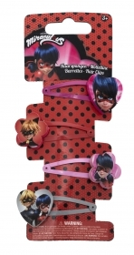 HAIR FERMATRECCINE CLIP 4 pieces, MIRACULOUS LADYBUG