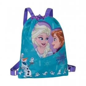 Bag with Adjustable Shoulder straps and Drawcord - DISNEY Frozen - blue Color