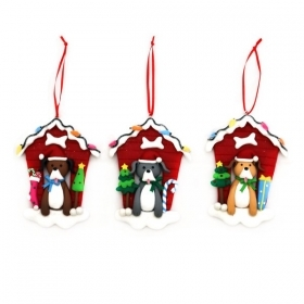 Christmas decoration for christmas Tree - EMBROIDERY - Kennel Dog