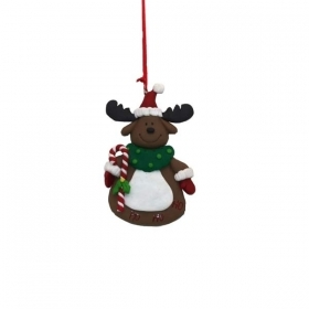Christmas decoration for christmas Tree - EMBROIDERY - REINDEER