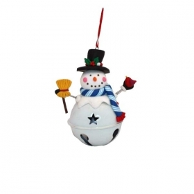 Christmas decoration for christmas Tree in FIMO SNOWMAN on ball