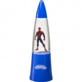 MINI LAMP LEd LIGHT with GLITTER and Changes colors MARVEL SPIDERMAN