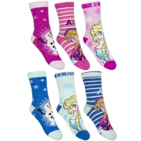 THREE PAIRS of SOCKS Socks for little girls - Disney FROZEN ELSA and ANNA from the nr 23 nr 34