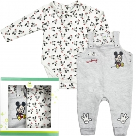 2-PIECE SET - ROMPER MORE' bib and brace OVERALLS - DISNEY MICKEY mouse - from 6 to 24 months