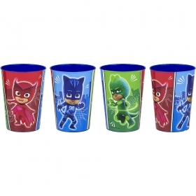 SET MEAL 4 Plastic Glasses PJ MASKS - SUPER PAJAMAS