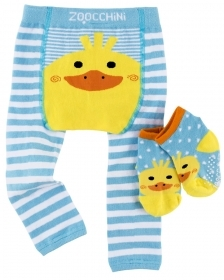 Set Leggings and Socks, non-Slip Grip Easy - Puddles the Duckling