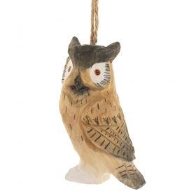 Decoration for CHRISTMAS Tree - WOOD - OWL