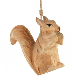 Decoration for CHRISTMAS Tree - WOOD - SQUIRREL
