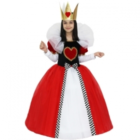 DRESS COSTUME Mask, CARNIVAL - Girl, QUEEN OF HEARTS