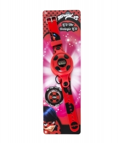 FANTASTIC WRIST WATCH WITH AN LCD YOYO REMOVABLE, MIRACULOUS LADYBUG