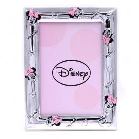 PHOTO FRAME in SILVER - DISNEY MINNIE mouse - 13x17 cm