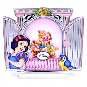 PHOTO FRAME in SILVER - DISNEY snow white and the 7 DWARFS