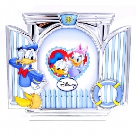 PHOTO FRAME in SILVER - DISNEY DONALD duck