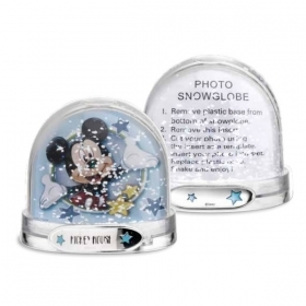 SNOW GLOBE PICTURE FRAME DISNEY - MICKEY MOUSE