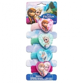 HAIR FERMATRECCINE ELASTIC 4 pcs DISNEY FROZEN Elsa and Anna