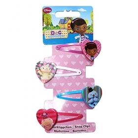 HAIR FERMATRECCINE CLIP-on 4-piece DISNEY DOCTOR PLUSH