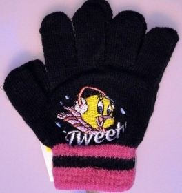 GLOVES MAGIC Looney Tunes TITTY BLACK COLOR